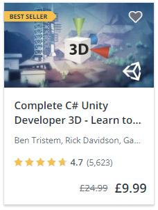 Complete C# Unity Course 3D
