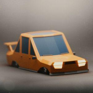 Low Poly art car