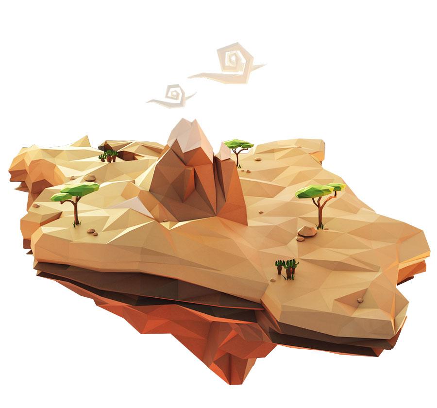 Low Poly art terrain