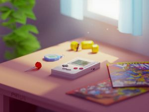 Low Poly art gameboy