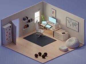 Low Poly art interior