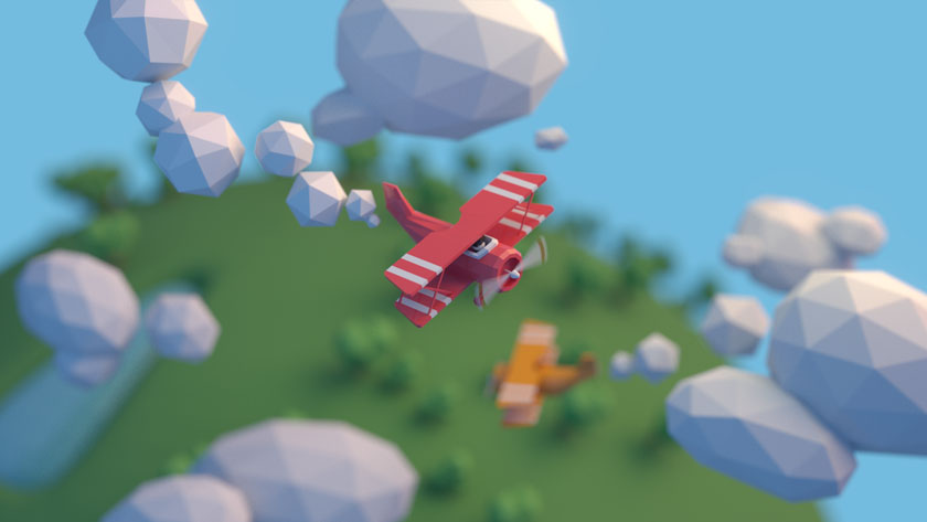 Low Poly art air plane