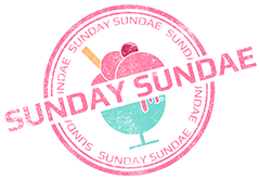 Sunday Sundae Stamp