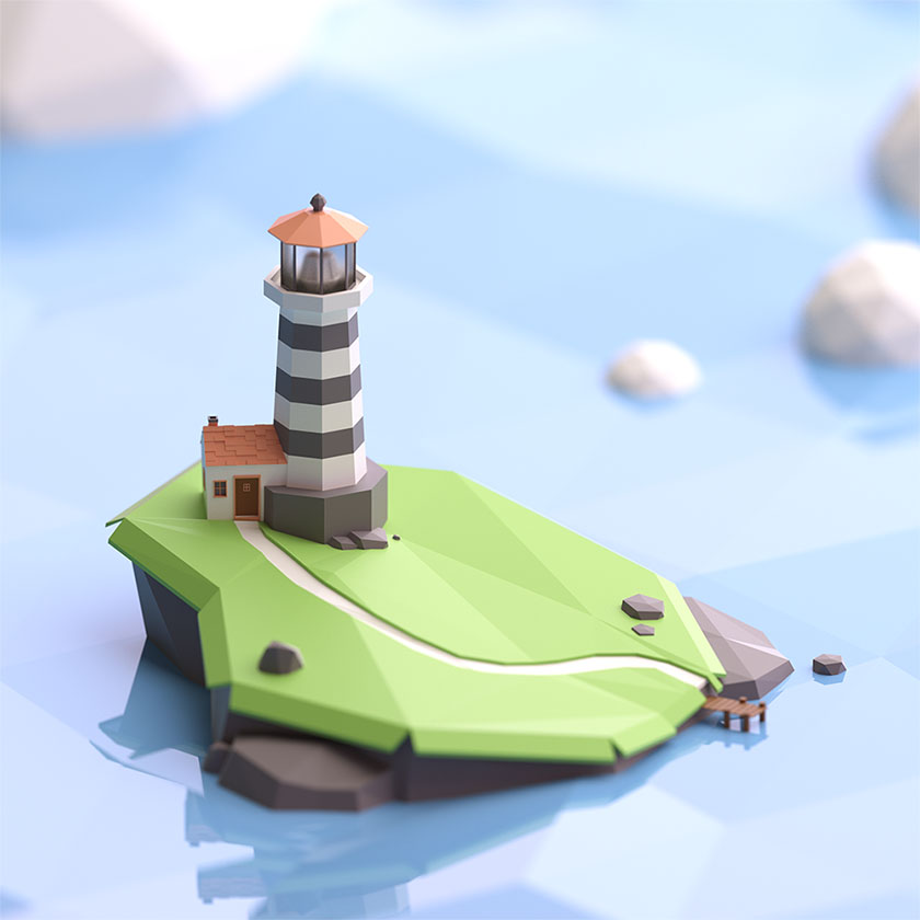 Low Poly art by Jeremy Edelblut