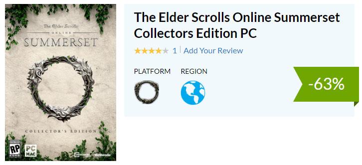 Elder Scrolls Online ESO Cdkeys