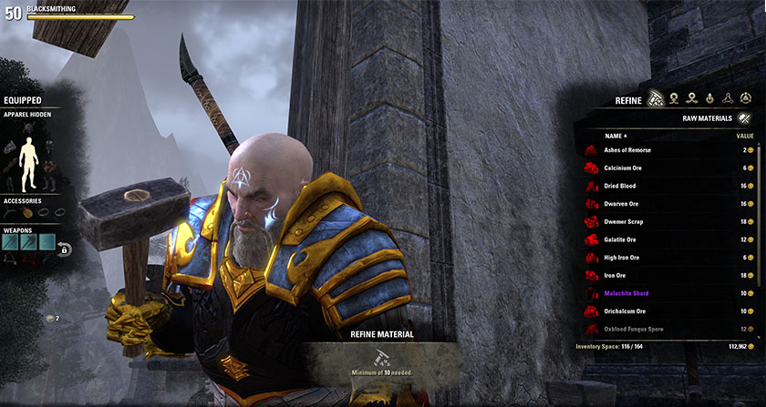 Elder Scrolls Online ESO Crafting