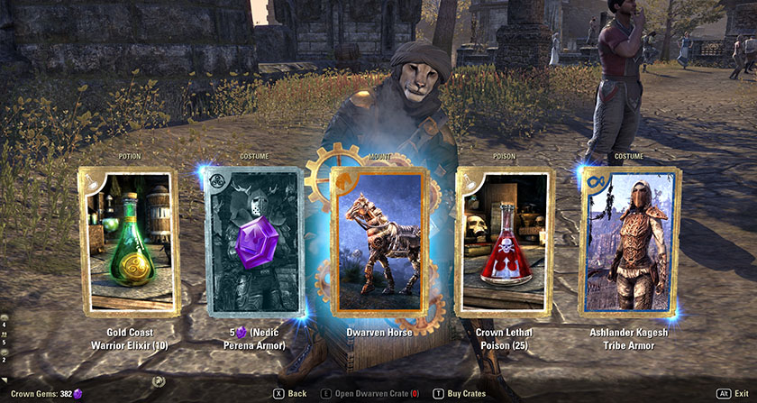 Elder Scrolls Online ESO Crown Crate Rare Mount