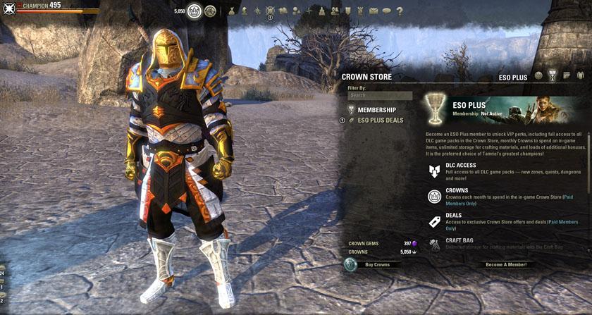 Elder Scrolls Online ESO Plus