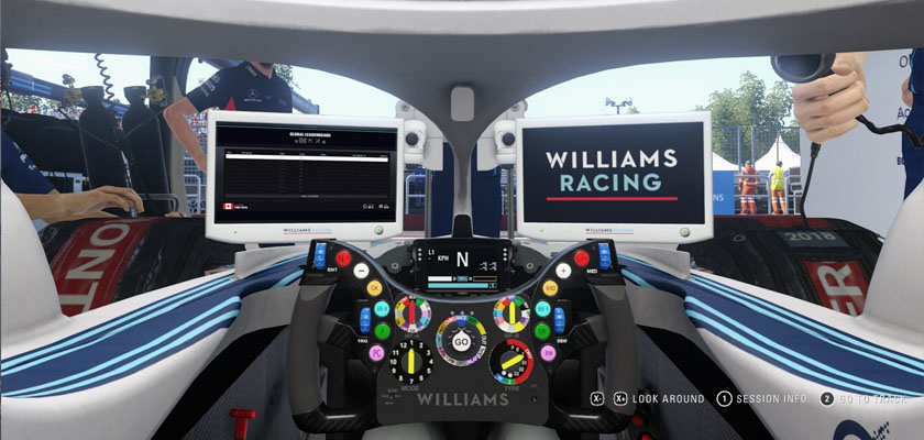 F1 2018 Williams Pit