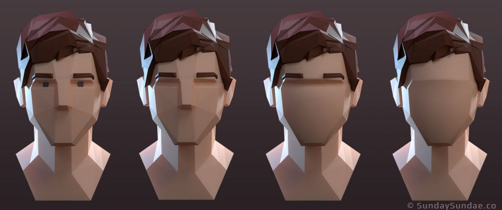 low poly character design