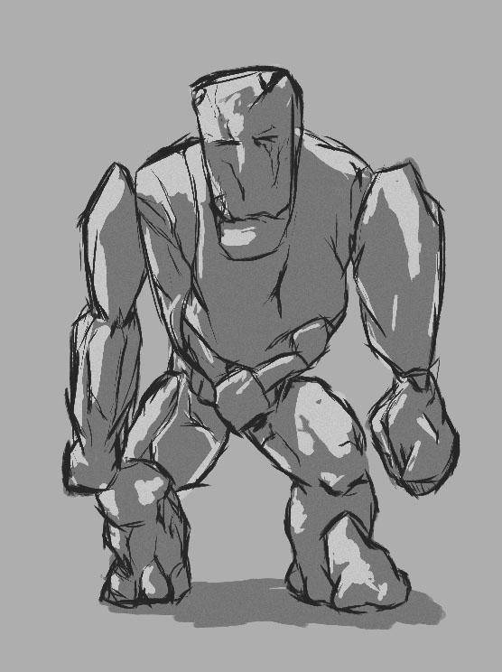 Rock Monster Character Concept