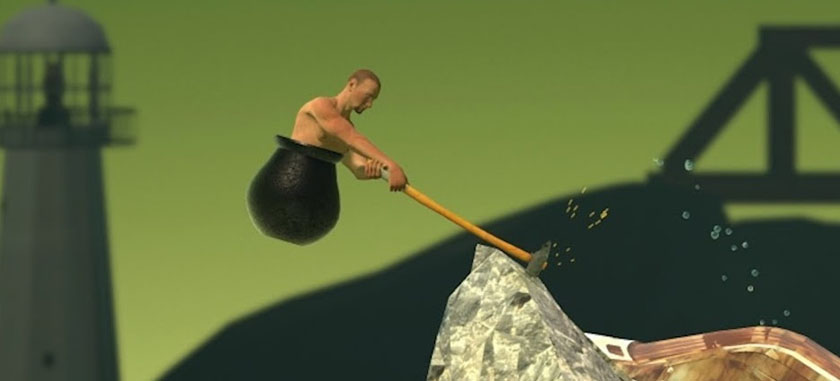 Getting Over It With Bennett Foddy Hammer Smash